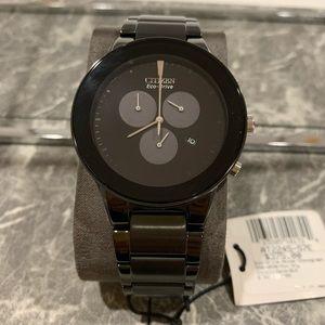 CITIZEN EcoDrive Black Dial Men's Watch AT2245-57E